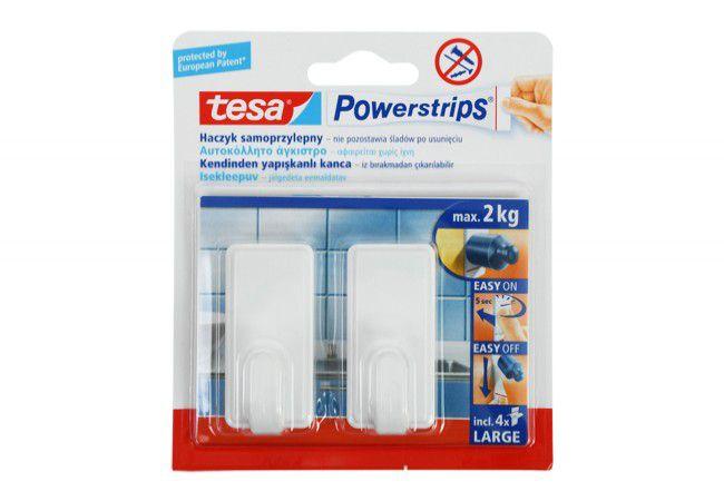 Haczyk samoprzylepny tesa Powerstrips (58010) nośność do 2 kg, prostokątny (2szt.)
