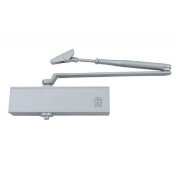 Samozamykacz TS 11 SGS srebrny z ramieniem CN/EN 1154 2/3/5