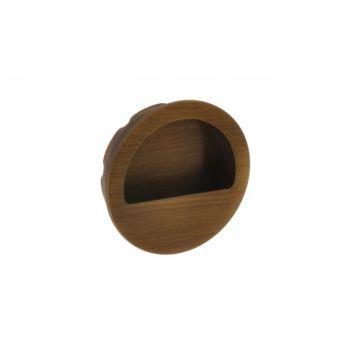 Uchwyt okrągły do drzwi łamanych patyna