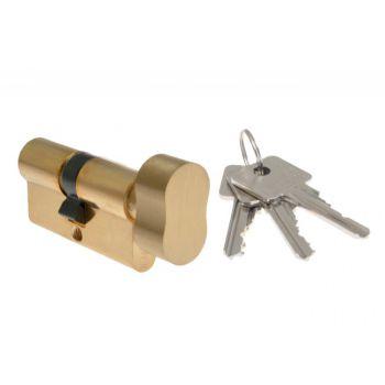 Wkładka bębenkowa B-Harko H6 35g/30 mm mosiądz z gałką 6-zastawkowa klucz kl.6