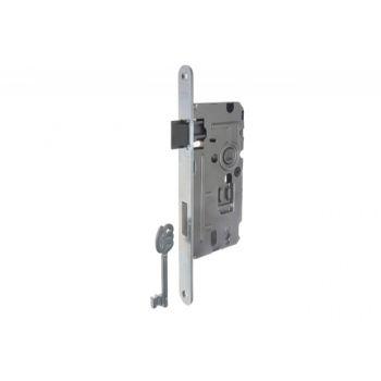 Zamek 110 72/50 klucz ocynk biały prawy
