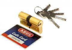 Wkładka Abus D15 30/30 wzmocniona 10-zapadkowa, mosiądz, 5 kluczy naw. klasa 6.2 C