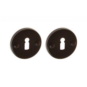 Szyld okrągły brązowy na klucz