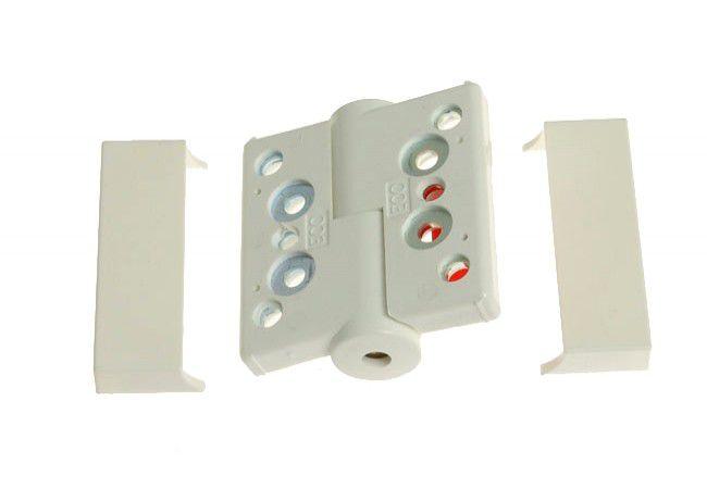 Zawias łazienkowy sprężynowy z regulacją naciągu 24/28 DR 15 j. biały. PRAWY