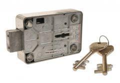 Zamek sejfowy do szafki na broń,atest IMP klasa A, klucz 69 mm typ 3012 wys.60 mm szer.87 mm