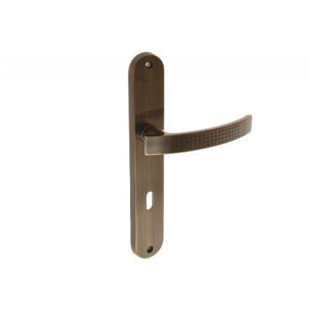 Klamka DH-T-11N-AB 72 klucz patyna