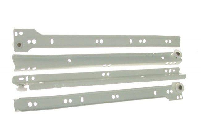 Prowadnica rolkowa do szuflad PR-1011-350 biała