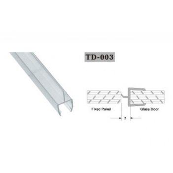 Uszczelka do kabin prysznicowych TD-003 8 mm 2,2 mb(US-HR-004)