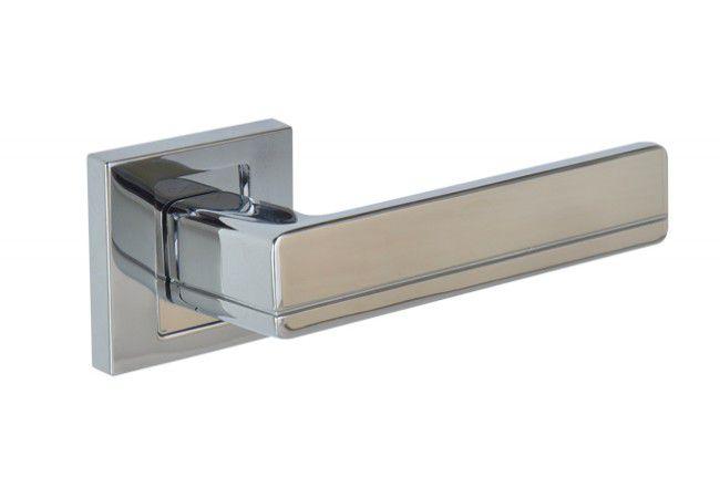 Klamka drzwiowa INFINITY LINE PLATON KPL 700 z rozetą kwadratową chrom