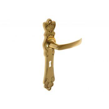 Klamka mosiężna  MAKI 90 klucz