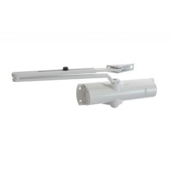 Samozamykacz GEZE TS 1000 C z ramieniem biały EN 2/3/4 (skrzydło do 60 kg,max.szer.1100 mm)