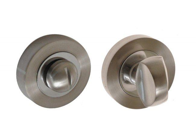 Szyld drzwiowy WC nikiel/chrom (KORA, OLIVIA)