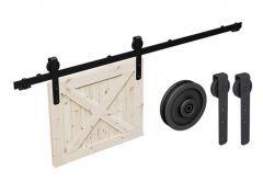Komplet złączek Thor do systemu drzwi przesuwnych Mantion Roc Design (skrzydło: max.120 kg, max.szer. 1250 mm, max. gr. 35-42 mm), rolka pełna, czarny