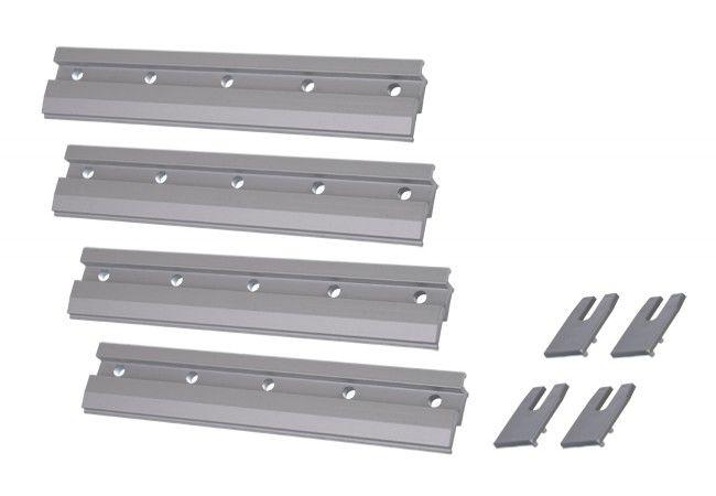 Klemy montażowe do systemu Hafele Slido Classic, drzwi szklane gr. 8 mm