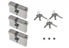 Wkładka ABUS E45N 40/40 nikiel KA01 w systemie 1-go klucza