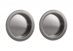 Uchwyt drzwi przesuwnych okrągły fi 55 satyna (2 szt.)