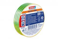 Taśma elektroizolacyjna 5000V PVC Tesa zielono-żółta, długość 20m, szerokość 19mm (53947-00009-15)