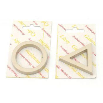 Oznaczenie WC ZNAKI satyna (koło/trójkąt)