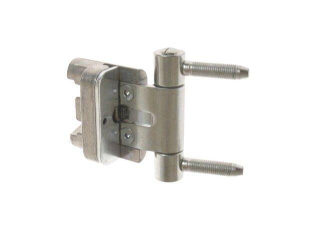 Zawias BAKA 2D20 MSTS  z zabezpieczeniem czopa przed wybiciem, 20 mm ocynk (do drzwi z uszczelką w ościeżnicy), drzwi przylgowe