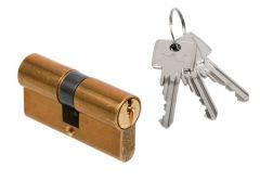 Wkładka bębenkowa DORMA DEC 160 30/45, mosiądz 3 klucze
