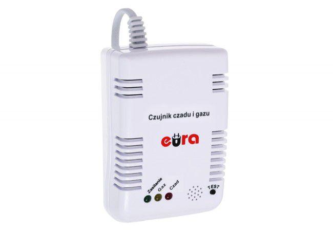 Czujnik czadu i gazu EURA CGD-35A2 2w1 230V z wyjściem przekażnikowym