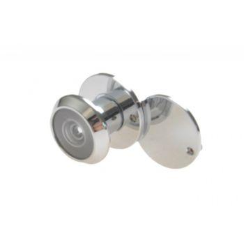 Wizjer drzwiowy fi 4-14 15-25 mm chrom kąt widzenia 130