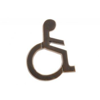 Oznaczenie WC INWALIDA patyna