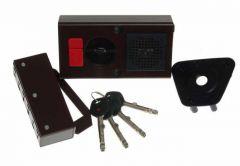 Zamek Gerda TYTAN ZE-1 WP brąz z elem. mocującymi, 4 klucze, atest kl. C,( do prawych drzwi otwieranych do wewnątrz)