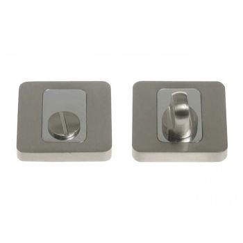 Szyld kwadratowy WC chrom-satyna (MADERA, MAKS)