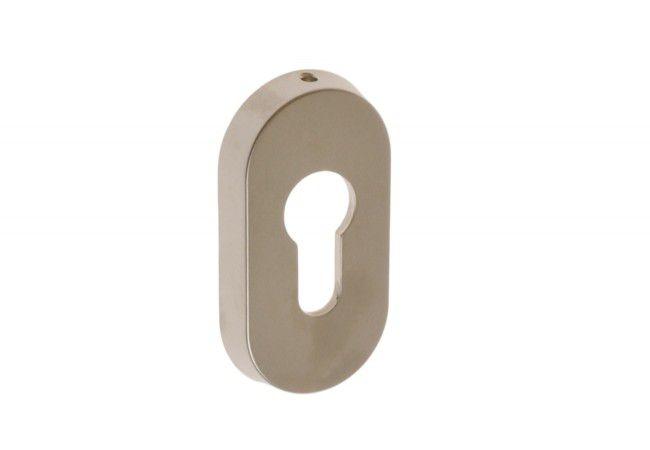 Szyld owalny do drzwi S nikiel matowy