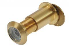 Wizjer drzwiowy fi 27 69-90 mm mosiądz satyna kąt widzenia 180 stopni