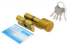 Kpl. wkładek WILKA 1400 30/35+ 1405 35g/30 mosiądz z gałką klasa C