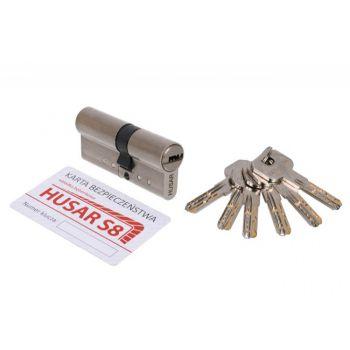 Wkładka bębenkowa HUSAR S8 35/50 nikiel satyna kl. C, 6 kluczy