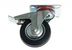 Kółko CKPW-SG 100W-HC skrętne z hamulcem z cz. gumą (nośność do 70 kg)