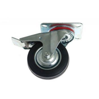 Kółko CKPW-SG 160W-HC skrętne z hamulcem z cz. gumą (nośność do 150 kg)