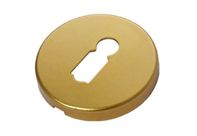 Szyld okrągły aluminum KL brązowy (ALX-1)