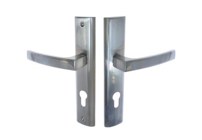 Klamka drzwiowa wejściowa INFINITY HERMES KHR 312W 72 wkład satyna lewa