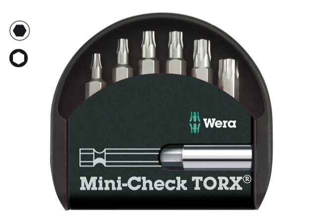Zestaw grotów WERA  Mini-Check TX  (uchwyty magnetyczne: TX 10-40)