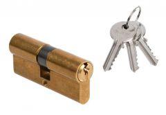 Wkładka bębenkowa DORMA DEC 150 30/45, mosiądz 3 klucze
