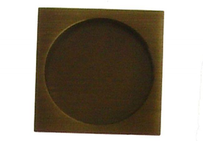 Uchwyt kwadratowy do drzwi przesuwnych wpuszczany patyna