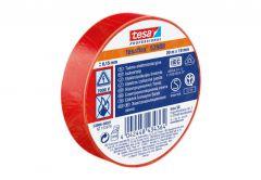 Taśma elektroizolacyjna 5000V PVC Tesa czerwona, długość 20m, szerokość 19mm (53947-00008-15)