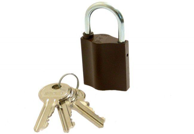 Kłódka znalowa K350 z dużym kluczem