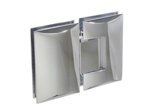 Zawias do kabin prysznicowych szkło-szkło TD-68G-3 180 stopni 8-12 mm mosiężny chromowany