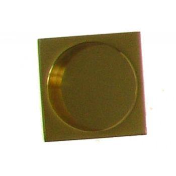 Uchwyt kwadratowy do drzwi przesuwnych wpuszczany złoty