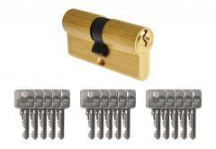 Wkładka bębenkowa B-Harko H6 30/30 ,6-zastawkowa kl.6.0, mosiądz, w komplecie 15 kluczy