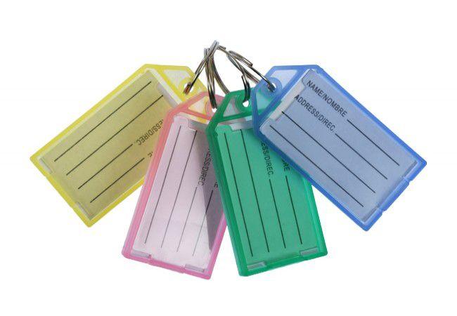 Identyfikator plastikowy do kluczy (30x52x5 mm), mix kolorów (50szt.)