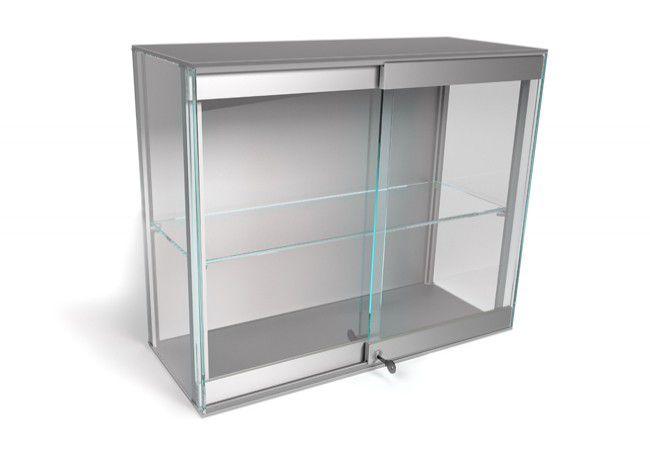 Zestaw do 2 szklanych drzwi przesuwnych VIRTUS (VR10R), L=1 mb, srebrny z zamkiem (211-021)