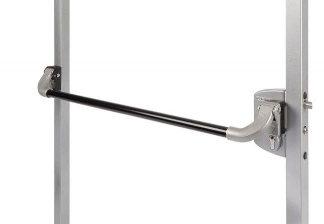 Aluminiowa zewnętrzna dźwignia antypaniczna Pushbar do zamków Locinox LA i LF