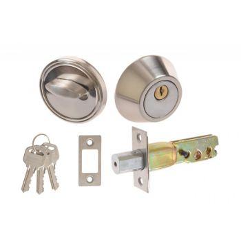 Zamek dodatkowy  D101 do drzwi chińskich chrom grubość drzwi 35-50mm
