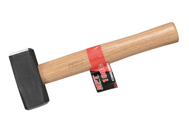 Młotek kamieniarski MPT 1kg, drewniana rączka MHD03001-1000